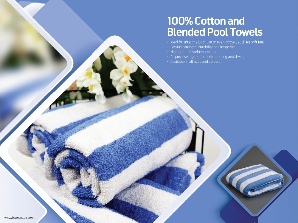 100 % Cotton and Blended Pool Towels