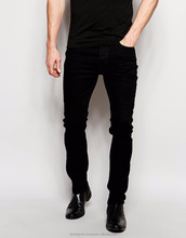 denim jeans pants - LUXURY STYLISH MEN'S SLIM SKINNY STRETCHY WASHING DAMAGE DENIM CARGO JEANS BLACK PANTS