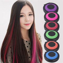 Professional 6-colors Temporary Hair Dye Powder cake Styling Hair Chalk Set Soft Pastels Non-toxic Hair Color Crayons