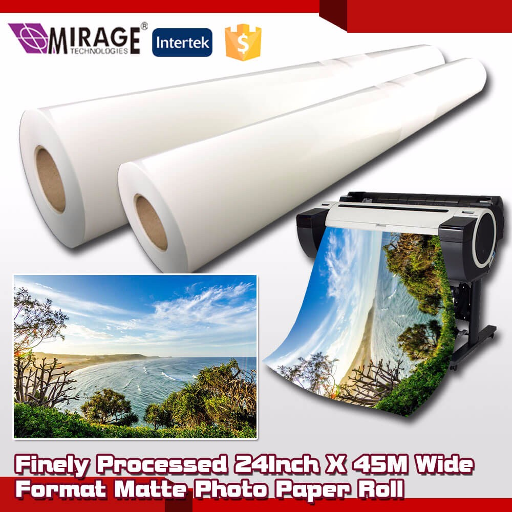 Finely Matte Roll Inkjet Photographic Paper For 24Inch X 45M
