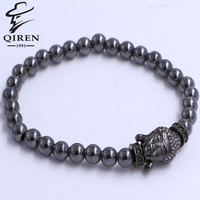 Hot New Natural Stone Bracelet Round Beads With Buddha Head Gem Stone Bracelet Women men Lucky Bead Bracelet