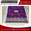 Supermet Brand African George Fabric Taffeta Silk Wrappers