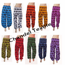 Unisex Harem Genie Gypsy Aladdin Pants Secret Santa Elephant Yoga Hippie Boho Alibaba Elastic Trousers Men/Women wholesale lot