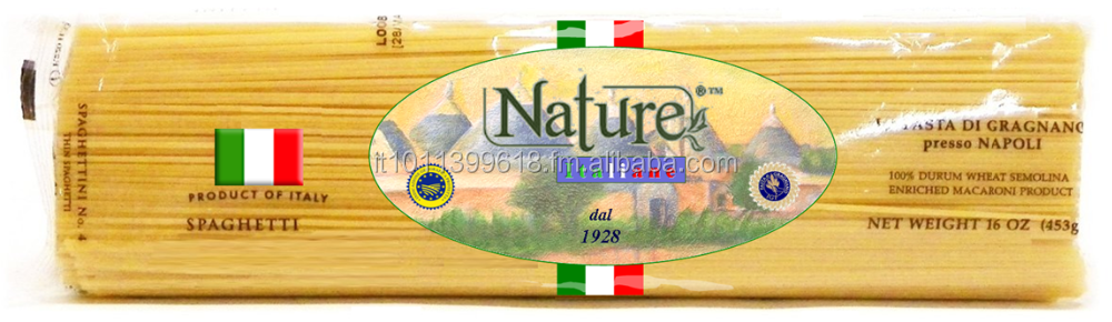 "MACARONI PASTA DRIED 100% MADE IN ITALY , BRAND "" NATURE ITALIANE "" SINCE 1930 , WITH AND/OR GLUTEN FREE"