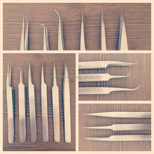 High Quality Anti-Acid Steel Curved Straight Tweezers Makeup Eyelash False Eyelashes Extension / Eyelash Extension Tweezers