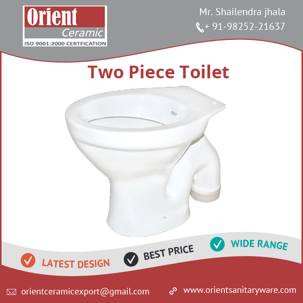Two Piece Bathroom Design Ceramic WC Toilet Western at Low Price