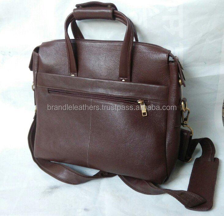 Cow Mild Grain Business Bag with laptop case