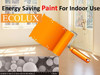 Ecolux energy saving interior wall paint for home design reflecting heat ray