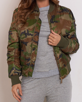 Female Army Bomber Jacket \Camouflage women varsity jackets\customize camouflage bomber jackets