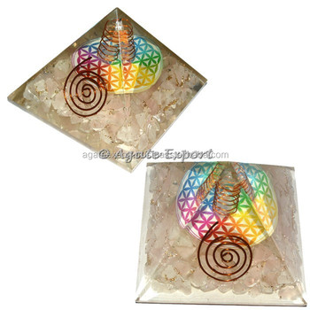 Rose Quartz Flower of Life Orgone Pyramids: Alibaba Top Online Seller of Orogne pyramids