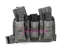 Grey Hight Hang Mag magazine Pouch and Panel set for airsoft paintball