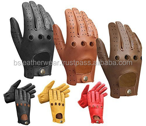 High Quality Mens Driving Gloves , Bus Driving Gloves , Half Finger Leather Driving Gloves