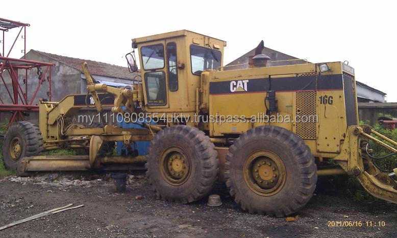 Used Motor Grader CAT 16G /second hand CATERPILLAR 14G 12H 120G 120H 14G 140G 140H 160H Grader for good price