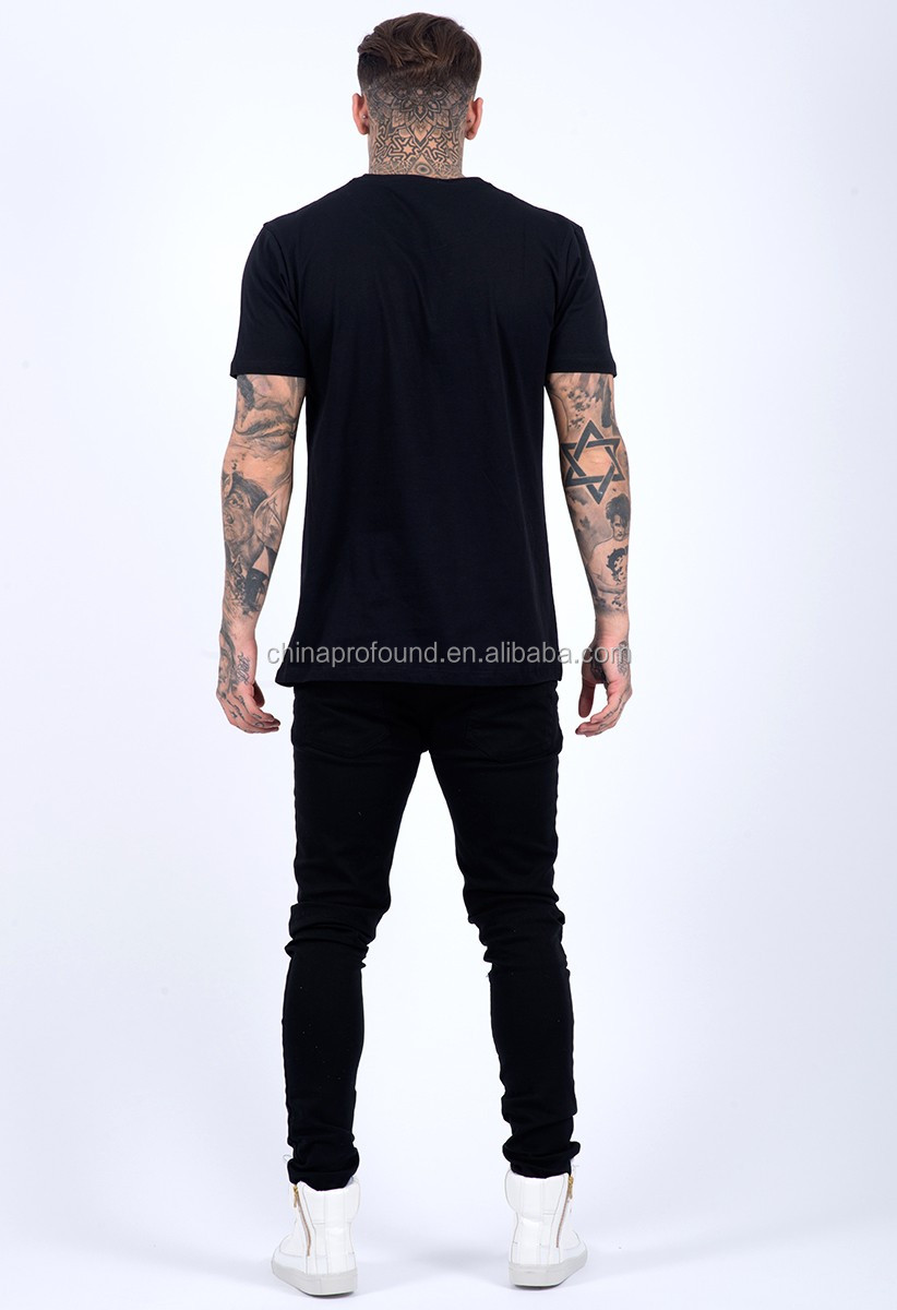 High quality 100% cotton short sleeve streetwear t shirt/custom printing t shirt for man
