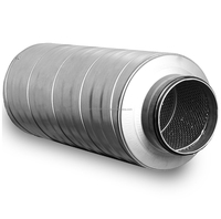 Circular duct silencer for ventilation systems