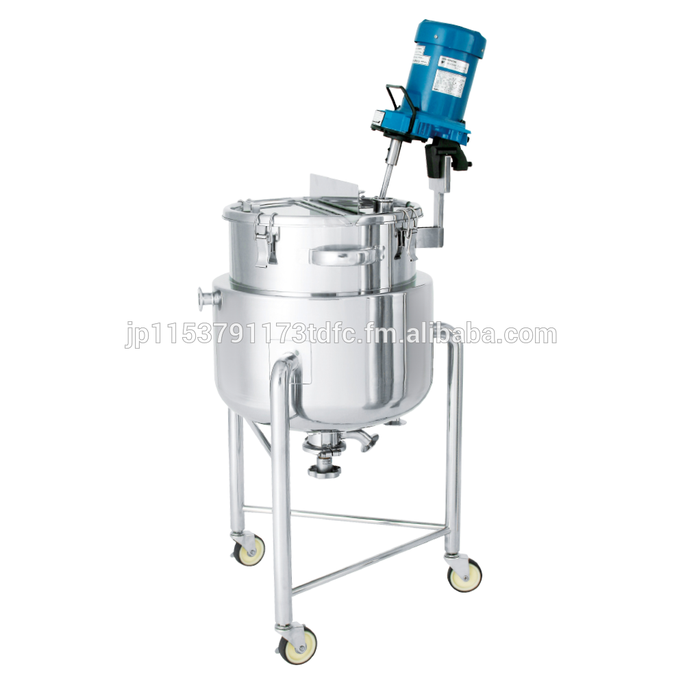 Hard-to-rust well stirred chemical mixing equipment for pharmaceuticals