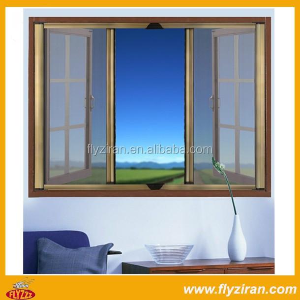 Retractable aluminum fly screen window door buy for Invisible fly screen doors