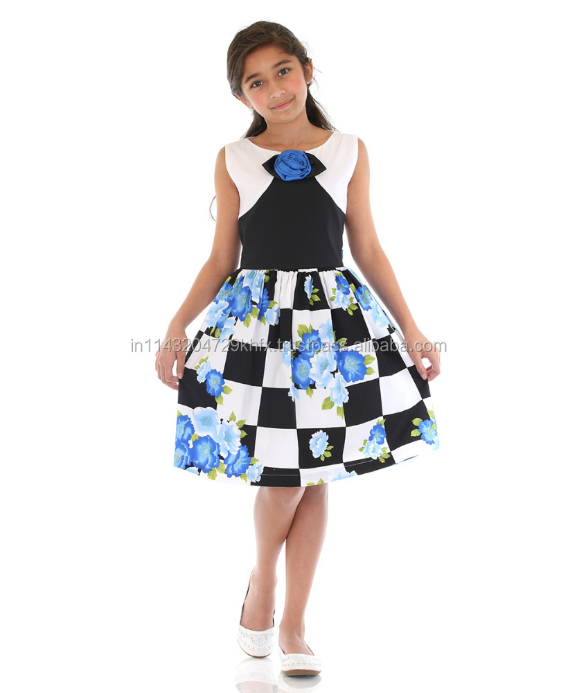 Latest Fashion Cotton Girls Frock Design
