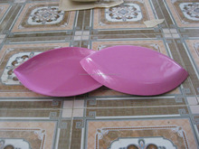 leaf shape bamboo dish serving food decorate home from vietnam