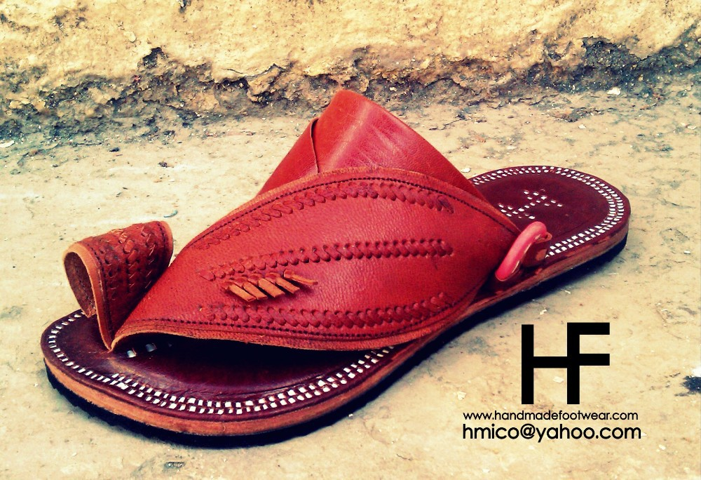 Handmade Leather Traditional Saudi Sandals for men and women , latest design with genuine leather sole and upper