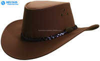 2016 China factory wholesale hand made genuine leather cowboy hat