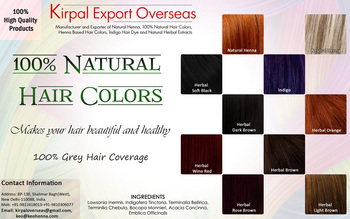 Henna Natural Hair Colors, Made by Henna & Herbs