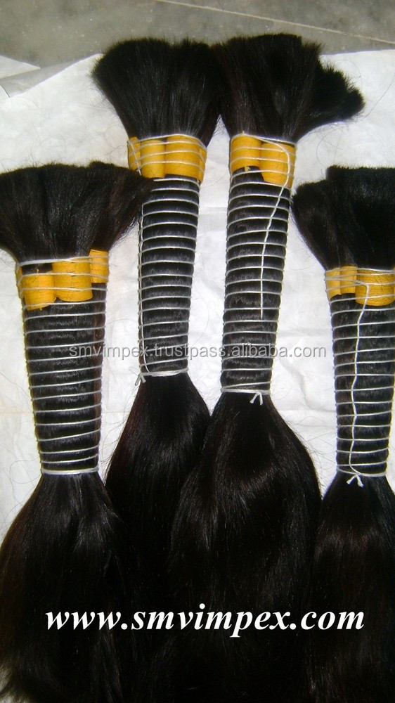 "2015 best selling indian human hair virgin indian hair 30"" bulk indian bulk human hair"