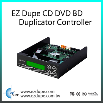 EZ Dupe Media Mirror Plus 1 to 3  Targets Multimedia to Disc Duplicator (BD/ DVD/ CD/ CF/ MS/ SD/  USB)