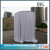 Portable Round Photo Booth Pipe and Drape