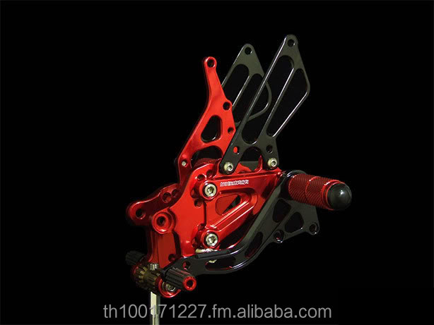 adjustable rearset foot pegs rest motorcycle cnc parts accessories super bike aftermarket rear set rearsets footrest
