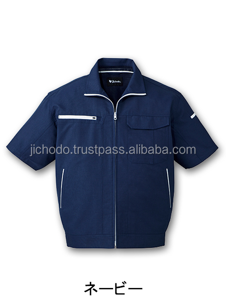Polyester cotton oxford / Quick dry short sleeve jacket ( uniform work ). Made by Japan