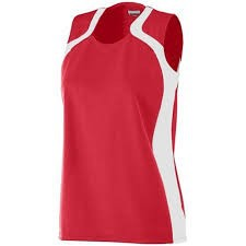 Red volleyball jersey