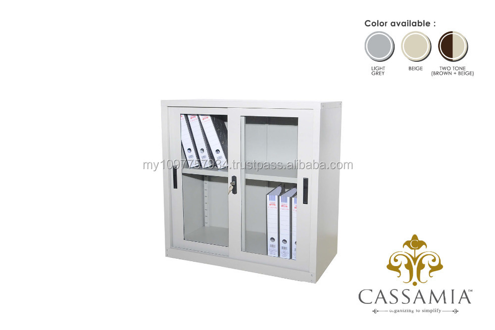 Half Height Cupboard with Glass Sliding Door
