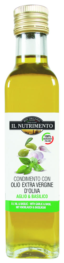 The Nourishment Extra Virgin Olive Garlic And Basil Organic 250g