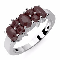 Genuine Ruby Gemstone & .925 Sterling Silver Ring Jewelry, Wholesale Silver Jewelry Anniversary Occasion Gemstone Ring Online