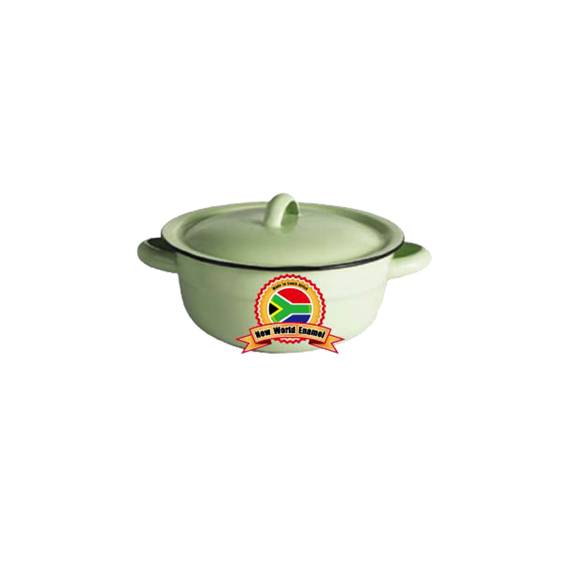 high quality enamelware vegetable dish plain16cm/18cm/20cm best selling in Africa white green