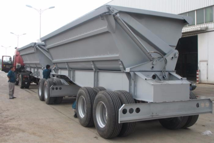 OBT tandem mining tipping truck trailer for indonesian coal price