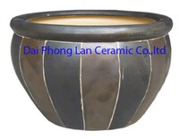 Mosaic lines Saigon ceramic indoor planter