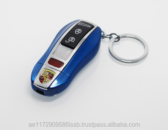 Car Remote Key Keychain Flameproof USB Electric Battery Litger Tobacco Cigar Lighters
