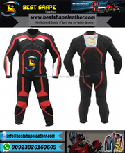 2 piece style custom made racing leather suit for men