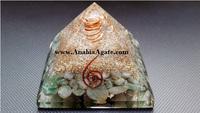 Green Aventurine Orgone Pyramid With Green Aventurine Tumble Stone