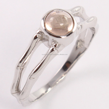 Natural ROSE QUARTZ Cabochon Gemstone 925 Sterling Silver Lovely Pretty Ring Size 5,6,7,8,9 and 10