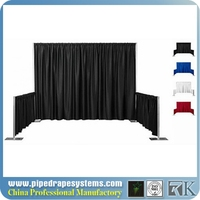 full color 10' x 8' dye-sublimated pipedrape backwall