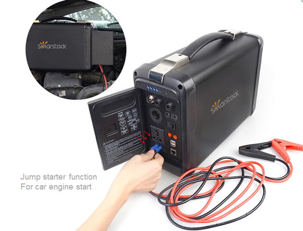 Household 500 Watt Lithium Ion Battery Solar Generator SS-PPS500W