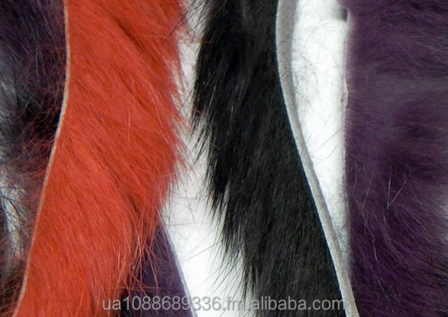 strips from fur of a rabbit