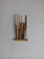 Unique Angklung Traditional Sundanese Indonesian ethnic pin Handmade