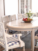 "Gustavian Dining Table 10-14 seater ""pearl"" design"