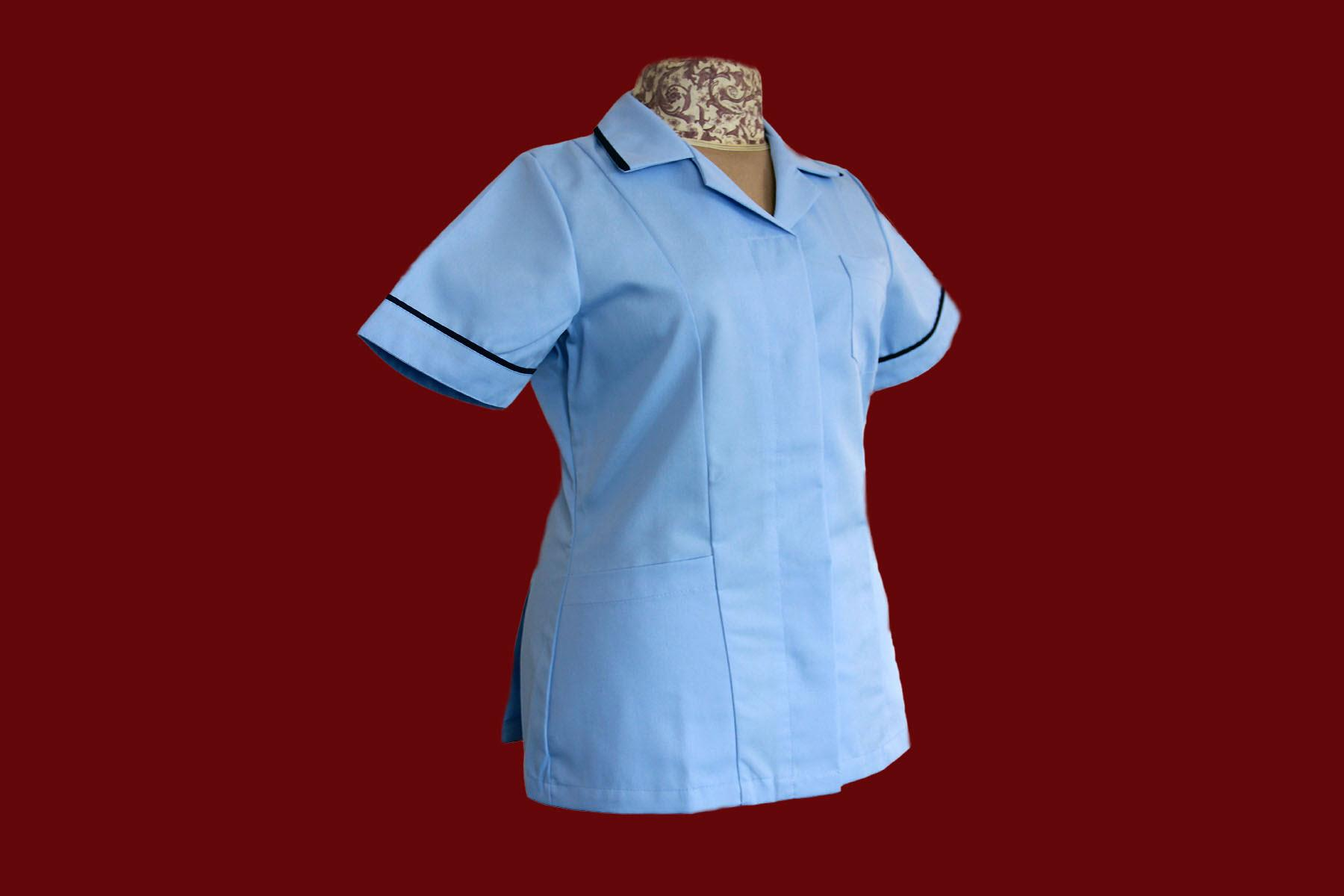Nurses Tunics Uniforms Reverse Collar