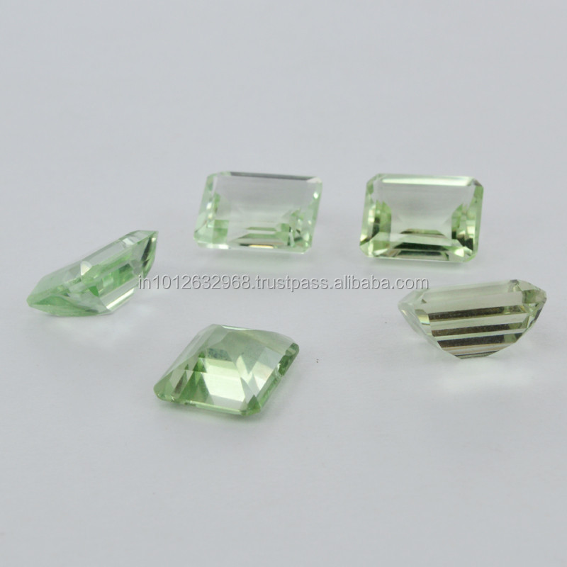 Beautiful ! 100 % Natural Semi precious natural Gemstone Princes Shape 10x12mm Green Amethyst