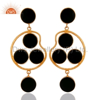 sterling silver earring, cheap fashion jewelry, Gold Plated Fashion Jewelry